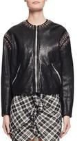Etoile Isabel Marant Buddy Studded Leather Jacket, Black