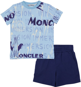 Moncler Boy's Logo Graphic Tee w/ Solid Shorts, Size 8-14