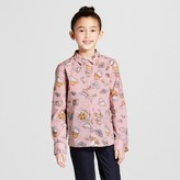 Victoria Beckham for Target Girls' Blush Tea Party Printed Button Down Top