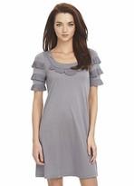 Half Sleeve Scoopneck Dress