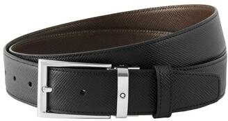 Montblanc Saffiano Leather Reversible Belt