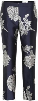 Alexander McQueen Floral jacquard pants
