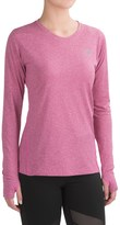 New Balance Heathered T-Shirt - Crew Neck, Long Sleeve (For Women)