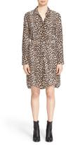 Equipment Delany Leopard Print Silk Shirt Dress