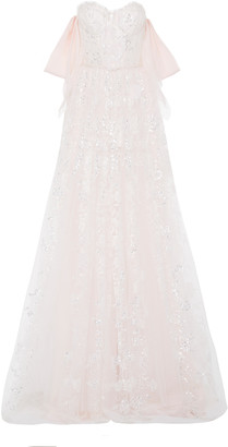Mira Zwillinger Exclusive Skye Sequined Lace Gown