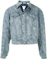 GmbH printed denim jacket