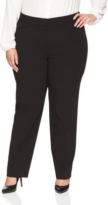 Lark & Ro Amazon Brand Women's Plus Size Straight Leg Trouser Pant: Classic Fit