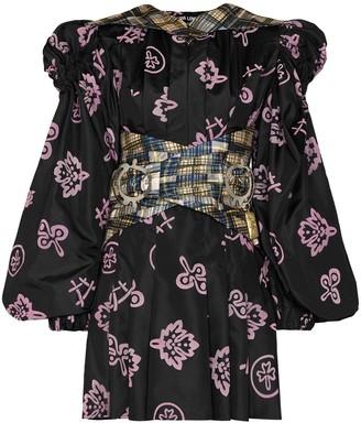 Chopova Lowena Puff-Sleeve Mini Dress