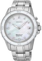 Seiko Sportura Womens Diamond-Accent Kinetic Bracelet Sport Watch SKA881