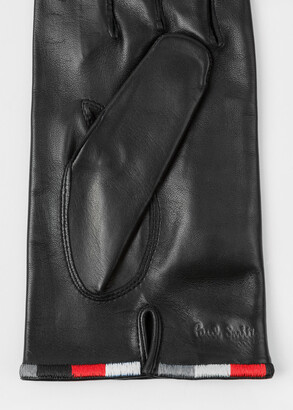 Paul Smith & Manchester United - Black Leather Gloves