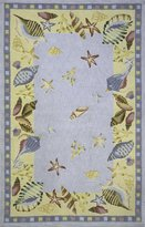 Momeni Rugs COASTCC-04LBL2680 Coastal Collection, 100% Cotton Hand Hooked Transitional Area Rug