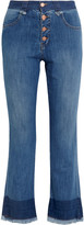 See by Chloe Cropped mid-rise flared jeans