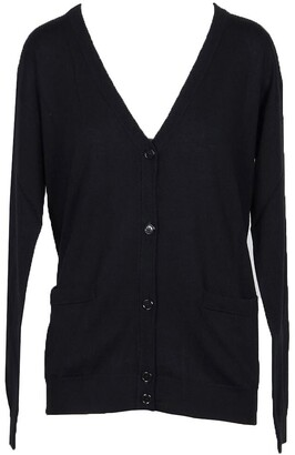 Moschino Solid Black Wool Women's Cardigan