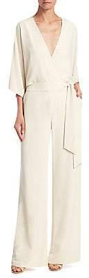 Halston Women's Wide-Leg Wrap Front Jumpsuit - Size 0