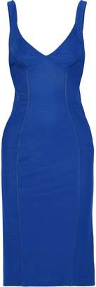 Zac Posen Ruched Paneled Ponte Dress
