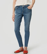 LOFT Curvy Skinny Ankle Jeans in Destructed Light Stonewash