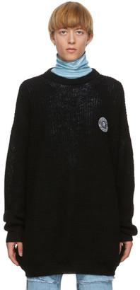 Raf Simons Black Scout Badge Sweater