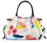 Kate Spade Stevie Leather-Trim Nylon Baby Bag, Watercolor