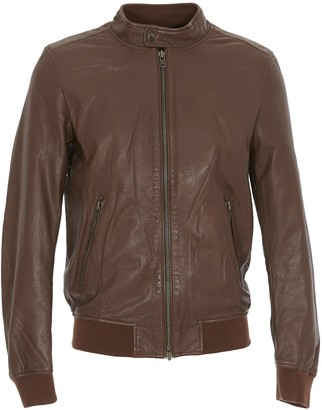 S.W.O.R.D. Zipped Leather Jacket