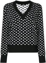 Versus V-neck jumper - women - Cotton/Viscose - 38