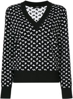 Versus V-neck jumper - women - Cotton/Viscose - 40