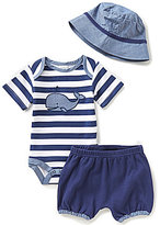 Starting Out Baby Boys Newborn-9 Months Whale Bodysuit, Shorts, & Hat Layette Set