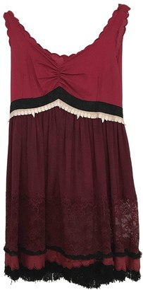 Undercover Burgundy Cotton Dress for Women
