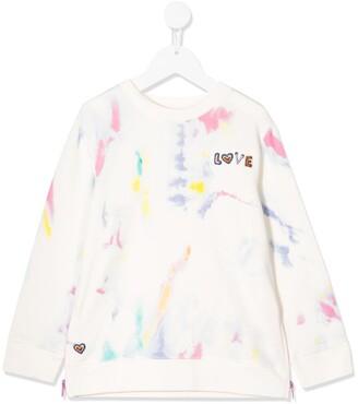Stella McCartney Splash Tye-Dye Organic-Cotton Sweatshirt