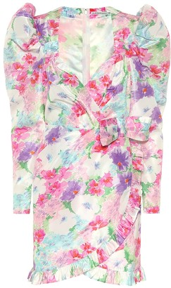 Alessandra Rich Floral silk minidress