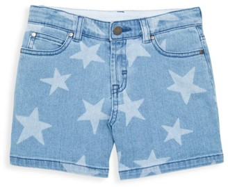 Stella McCartney Little Girl's & Girl's Stars Denim Shorts