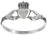 Journee Collection Women's Tressa Collection Sterling Silver Claddagh Ring