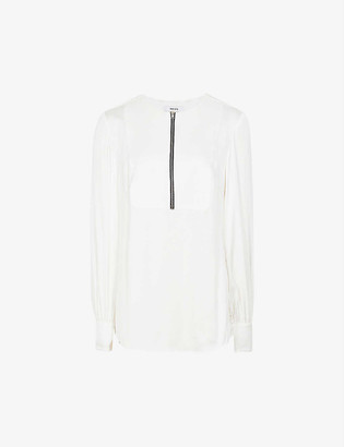 Reiss Isabella woven crepe blouse