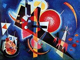 NeL 1art1 Posters: Wassily Kandinsky Poster Art Print Blu (32 x 24 inches)