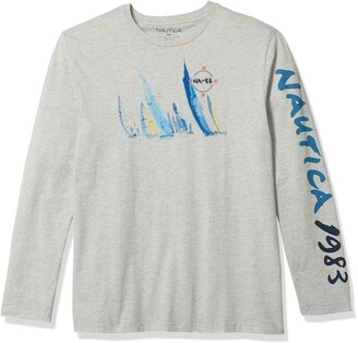 Nautica Men's Logo Graphic Long Sleeve T-Shirt
