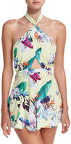 6 Shore Road Ocean Halter Cutout Dress