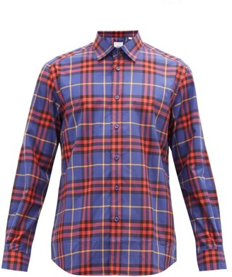 Burberry Vintage-check Cotton-poplin Shirt - Purple Multi