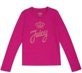 Juicy Couture Girls Logo Juicy Stud Script Long Sleeve Tee