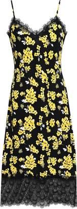 MICHAEL Michael Kors Guipure Lace-trimmed Floral-print Jersey Dress