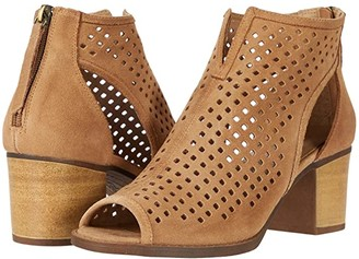 Chinese Laundry Tessa Peep Toe Bootie (Camel) Women's Dress Lace-up Boots