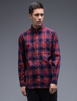 Silas Round Collor Plaid Shirt