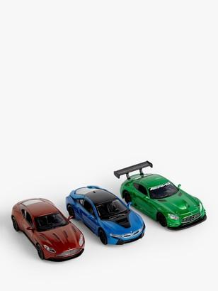John Lewis & Partners 1:43 Die-Cast Toy Cars, Pack of 3