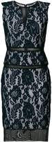 Just Cavalli Macramé lace fitted dress