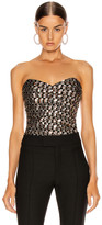 Smythe Sequin Bustier in Art Deco Sequin | FWRD