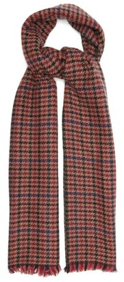 Isabel Marant Dash Shepherd-check Wool-blend Twill Scarf - Red