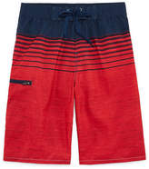 Burnside Forever Red Stripe Swim Trunks-Boys 8-20