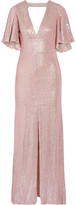 Temperley London Stardust Open-back Sequined Chiffon Gown - Pastel pink