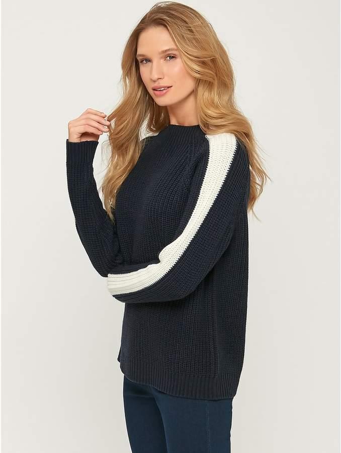 M&Co Stripe sleeve jumper