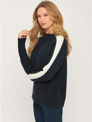 M&Co Stripe sleeve jumper