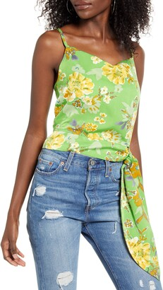 4SI3NNA the Label Elodie Floral Tie Waist Tank Top