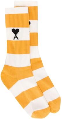 Ami de Coeur striped socks